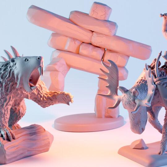 Canadian Miniatures Kickstarter STL Set
