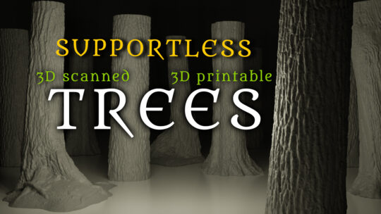 Supoortless 3D Scanned 3D printable trees