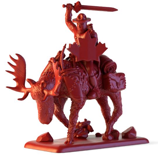 Mountie on a Moose (.stl)